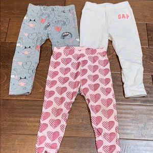 Baby toddler girl gap pants leggings bundle 2T